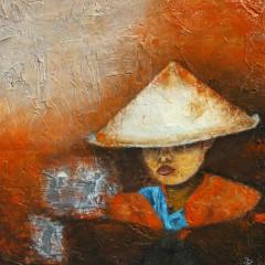 Reispflückerin auf Java